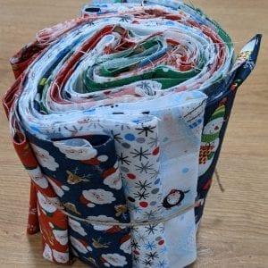 """25 x 5"""" strips (WOF) Desert Roll Fabrics"""