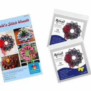 fold n stitch wreath kit